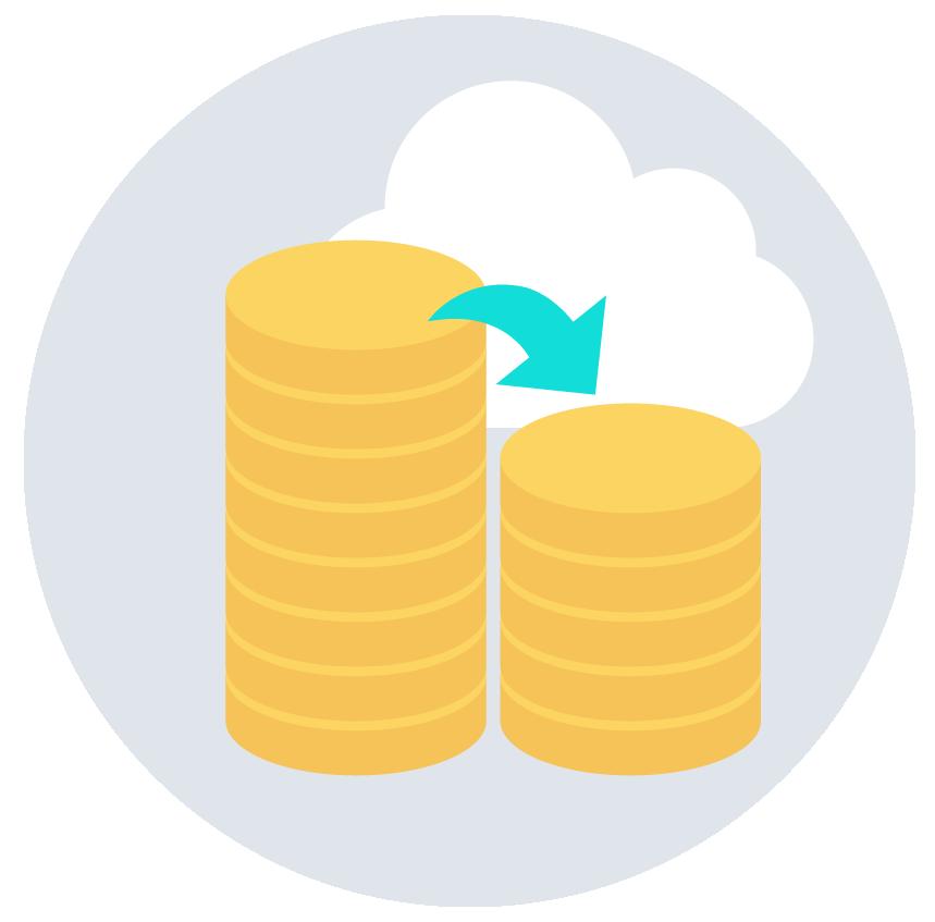 Microsoft Azure(クラウド)を利用する事で初期導入費用を大幅に削減